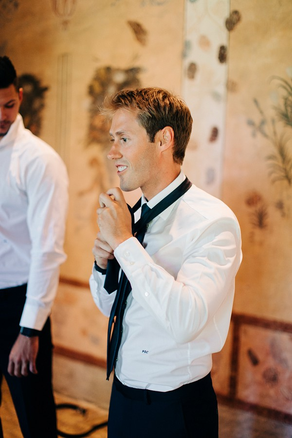 Handsome black tie groom