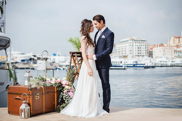 Luxury Cannes Yacht Wedding Inspiration Shoot
