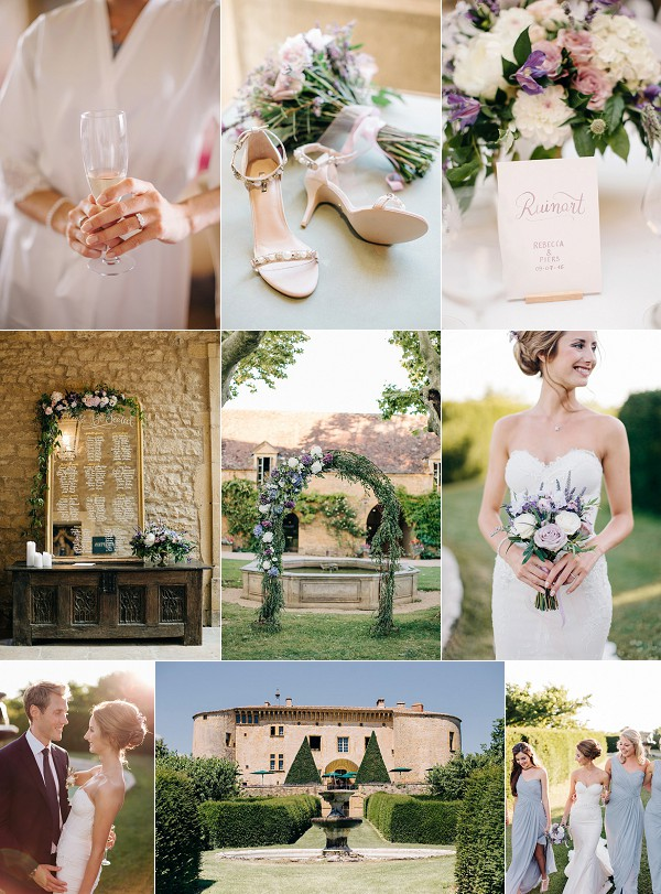Luxury Rhône Chateau de Bagnols Real Wedding Snapshot