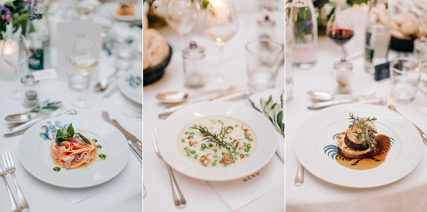 Luxury wedding food