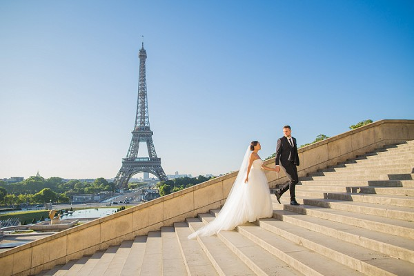 Paris wedding day