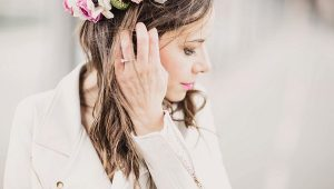 Pop of colour flower crown