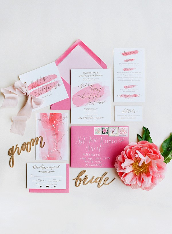 St Tropez Wedding Invitation Suite