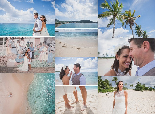 Tropical Destination French Antilles Wedding Snapshot