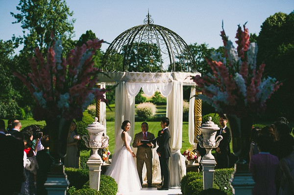Wedding ceremony location french garden
