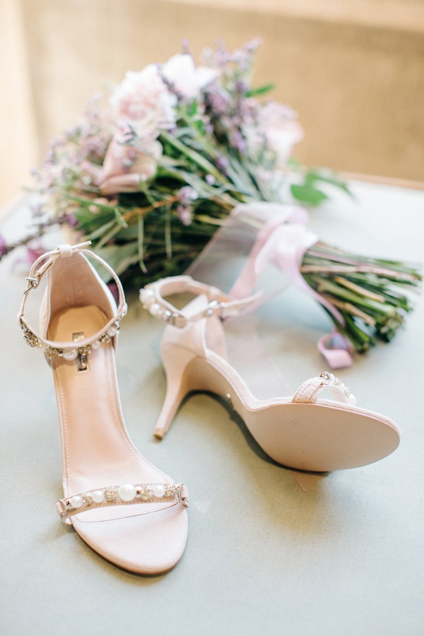 Wedding heels jeweled