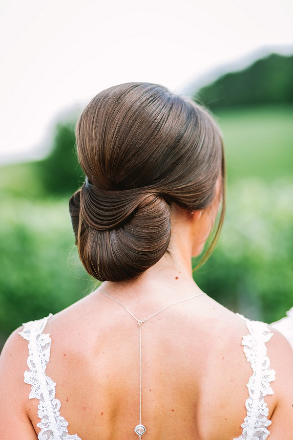 elegant wedding up do