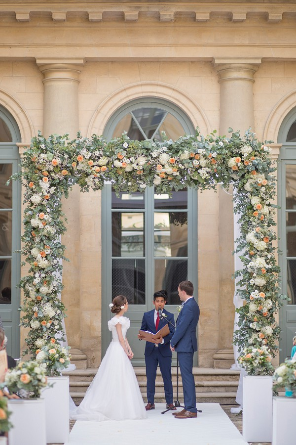 large floral wedding arch