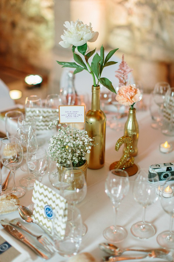 pretty gold theme wedding