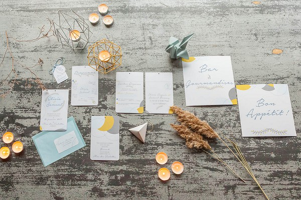 yellow and blue wedding theme