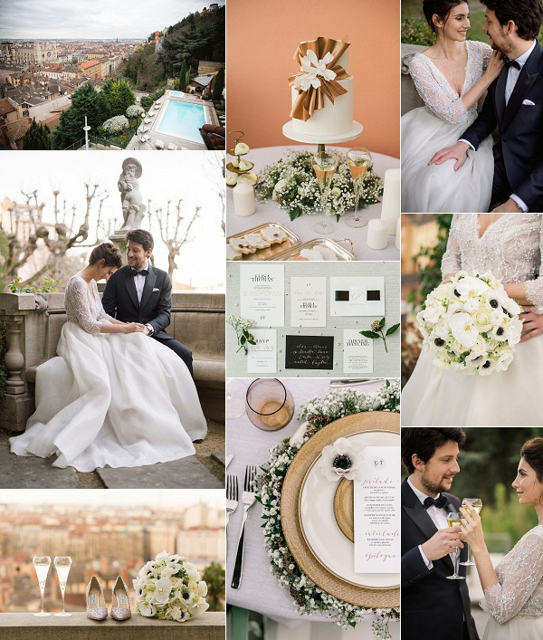 Black Tie Luxury Villa Florentine Wedding Inspiration Snapshot