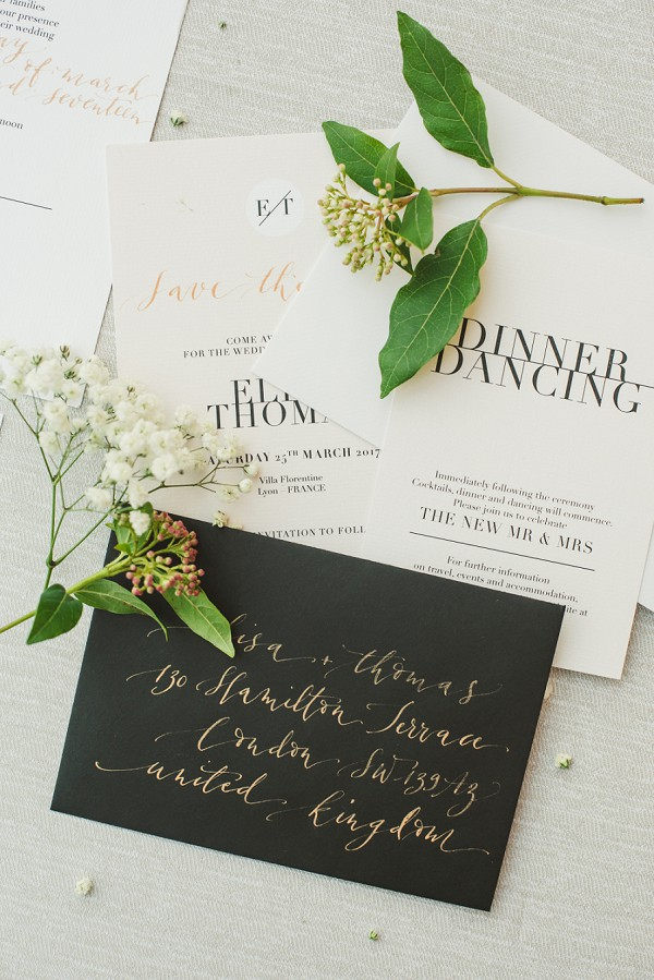 Calligraphy wedding envelope
