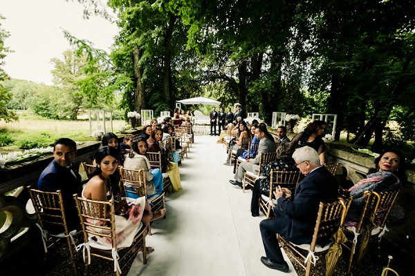 Intimate outdoor wedding