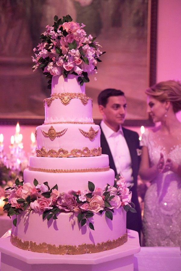 Large luxury wedding cake
