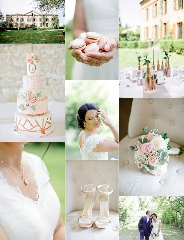 Manoir Des Barrayrous Rose Gold Styled Shoot Snapshot