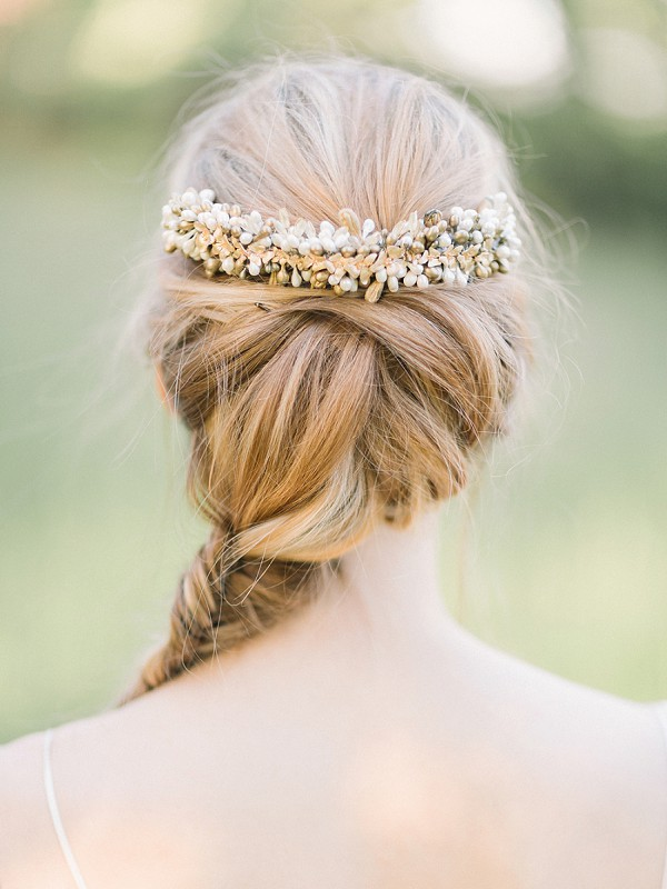 Pretty bridal hair piece