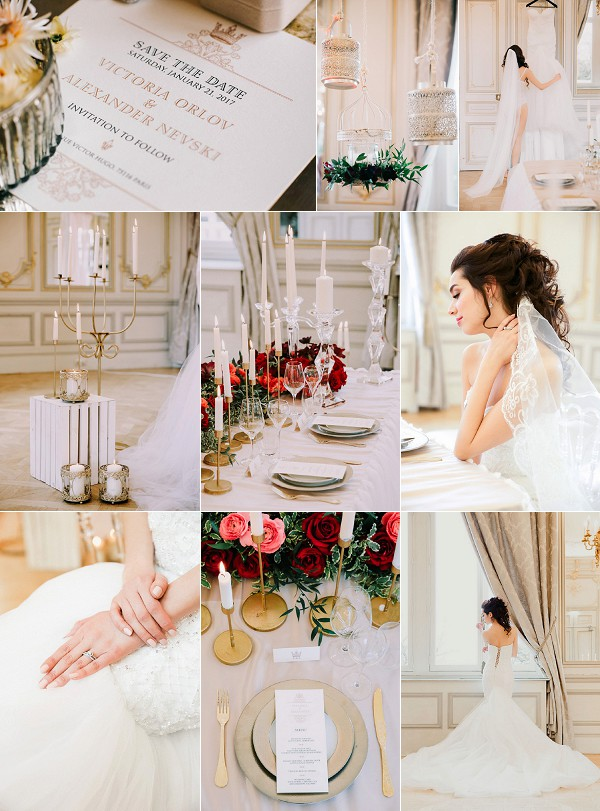 Romantic Pavillon Royal Paris Wedding Inspiration Snapshot