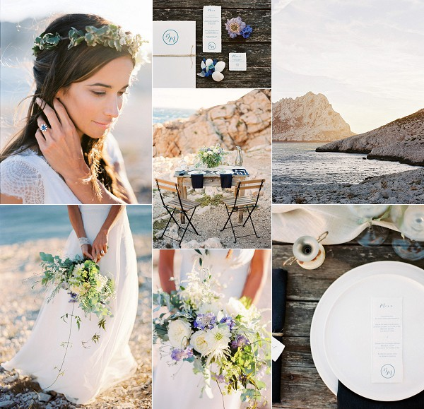 South of France Beachside Wedding Inspiration Snapshot