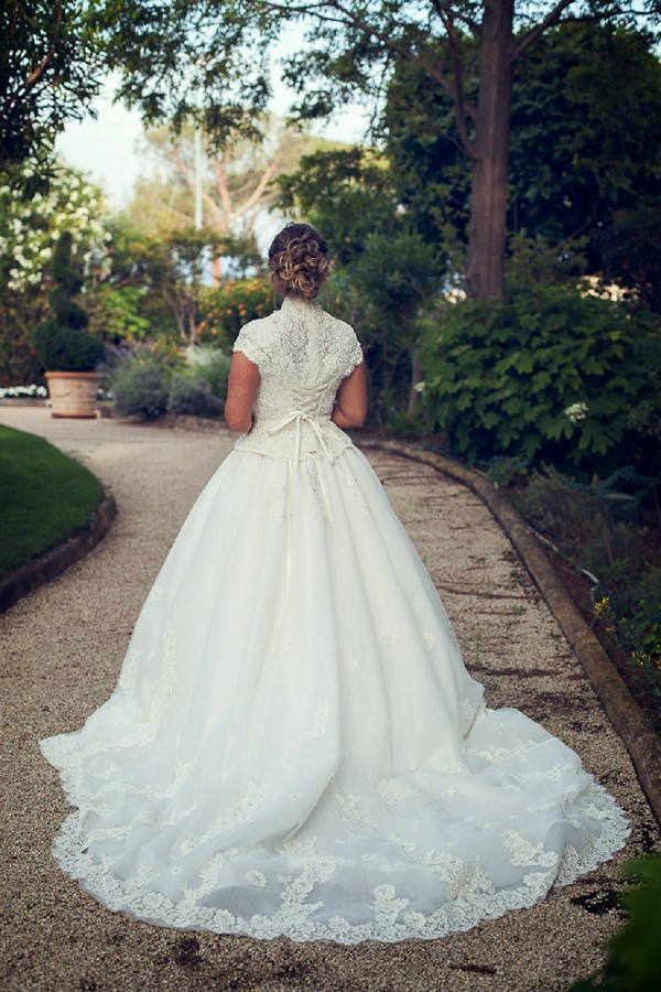 lace edged wedding dress