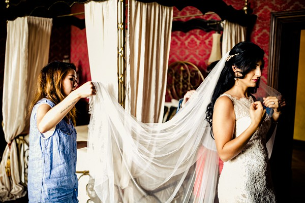 sheer long wedding veil