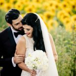 sunflower wedding photo