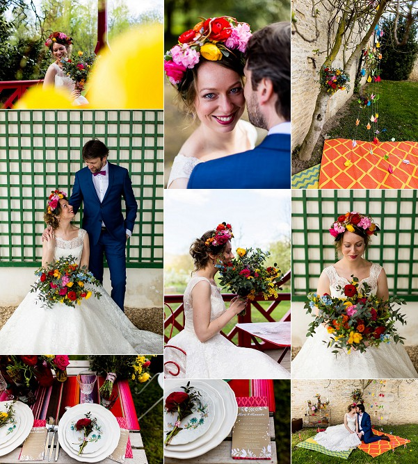 Colourful Château de Canon Wedding Inspiration Snapshot