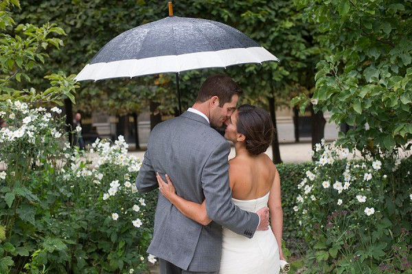 wedding paris rain