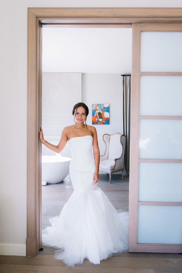 Vera Wang strapless gown