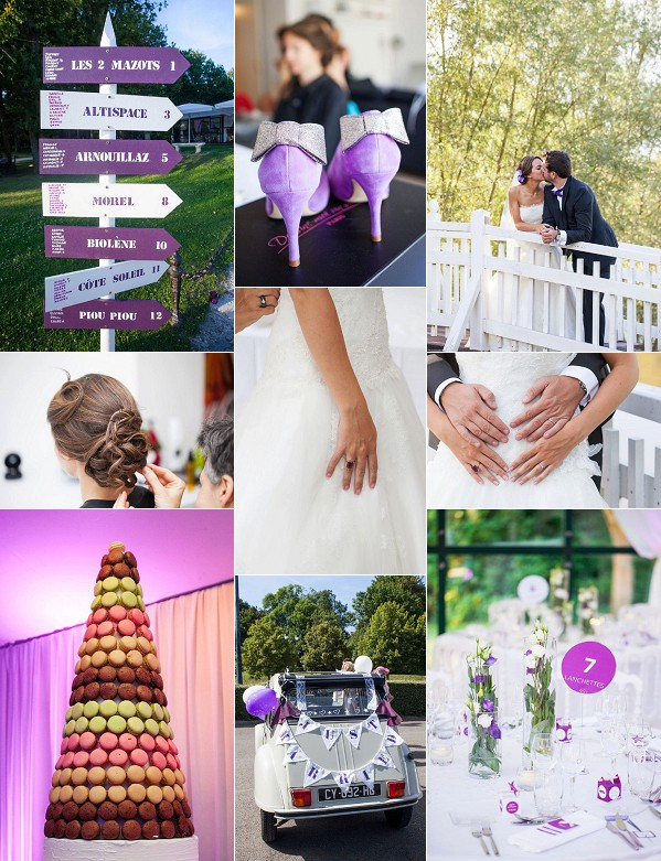 Violet Inspired Domaine de la Butte Ronde Wedding Snapshot