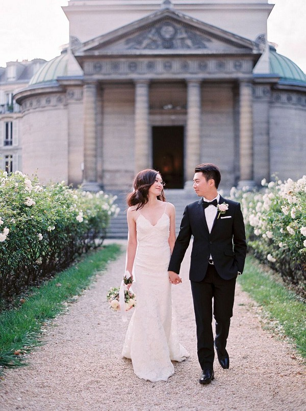 black tie paris wedding