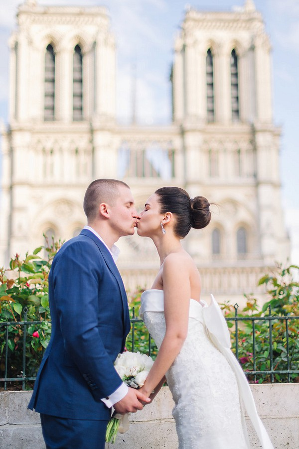 paris wedding landmark photo