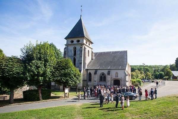 french wedding day church