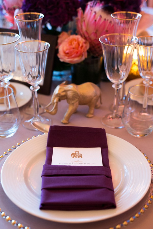 gold and bright colours wedding