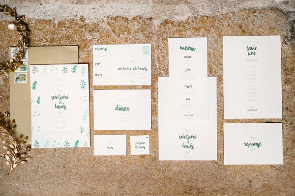 simple wedding stationery