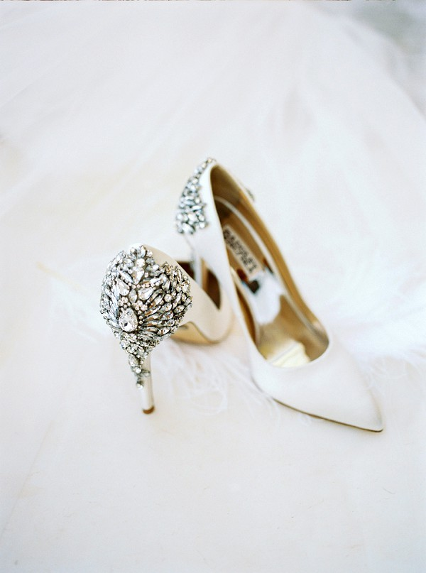 Badgley Mischka wedding heels