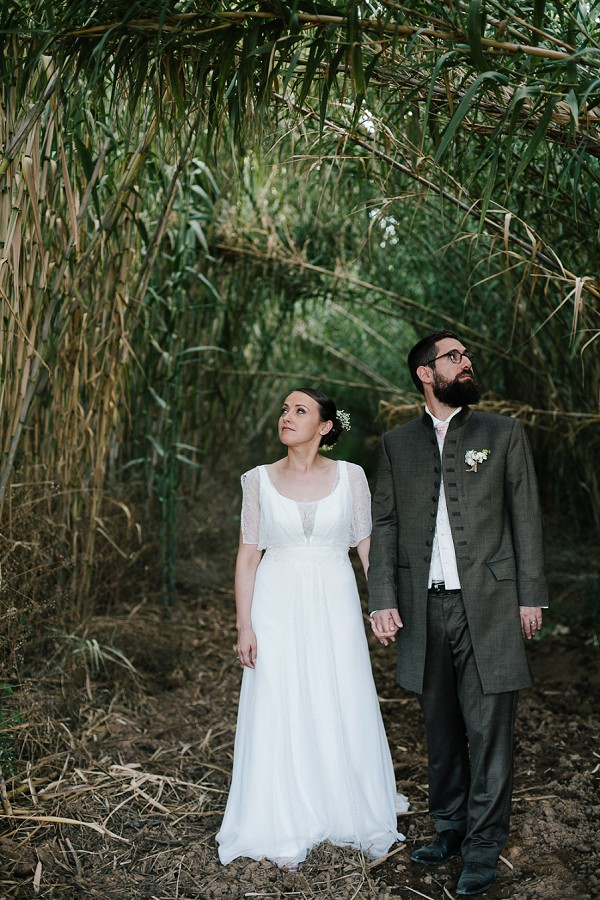 Bamboo wedding photo