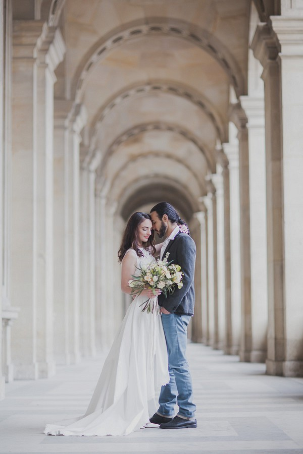 Elegant wedding Paris portrait