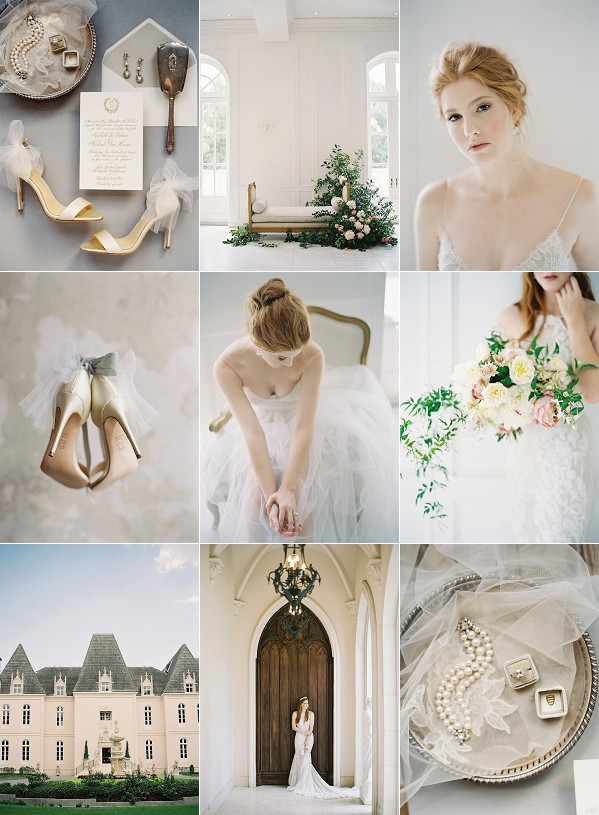 Fine Art French Inspired Chateau Wedding Snapshot