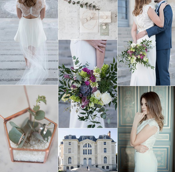 French Chateau Destination Wedding Inspiration Snapshot