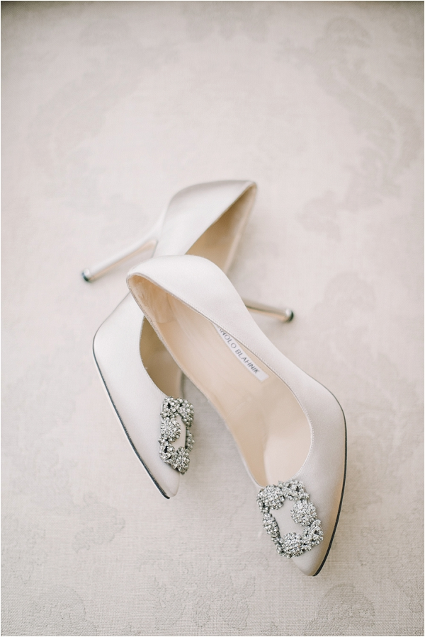 Manolo blahnik ivory wedding shoes