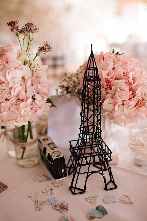 Paris inspired wedding decor