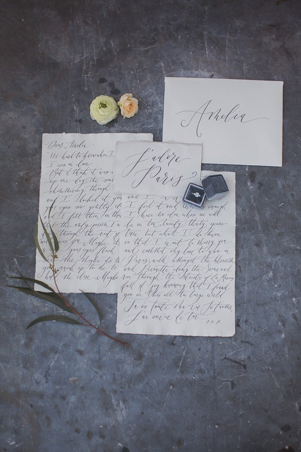 Parisian wedding stationery