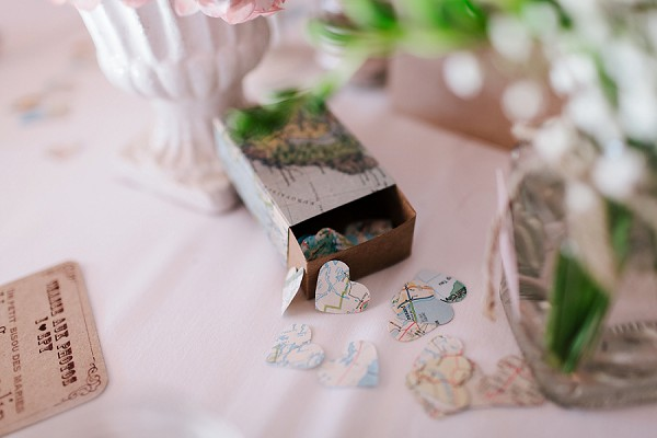 Travel inspired wedding details