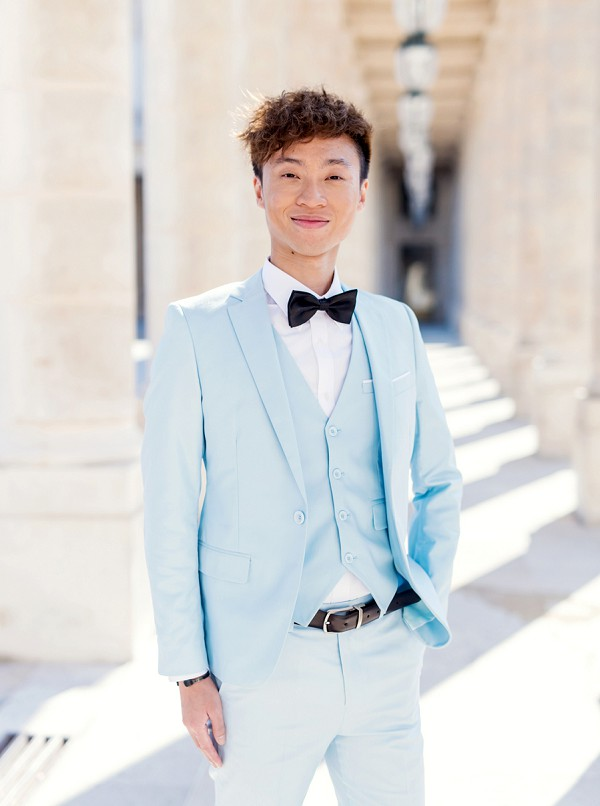 baby blue wedding suit