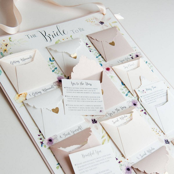 bride to be advent planning calendar