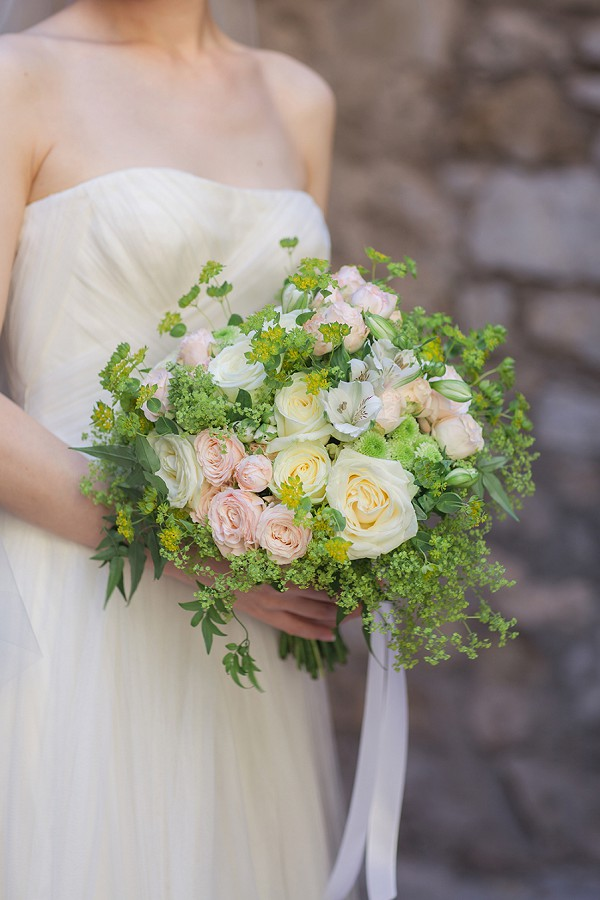 feminine bridal bouquet