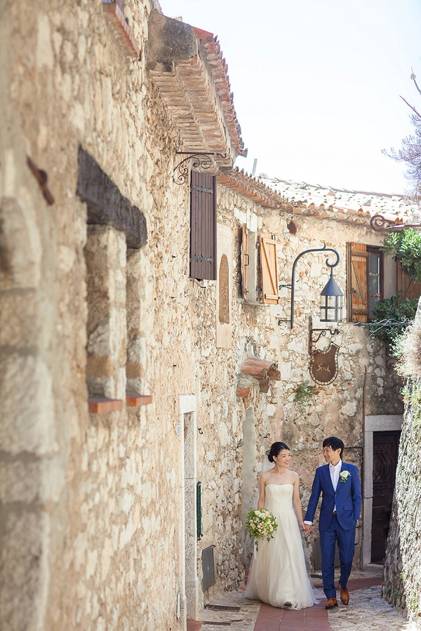 french riviera bride and groom
