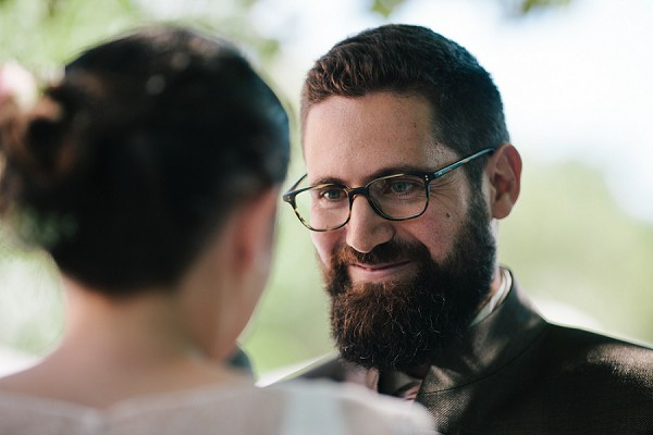 groom in glasses