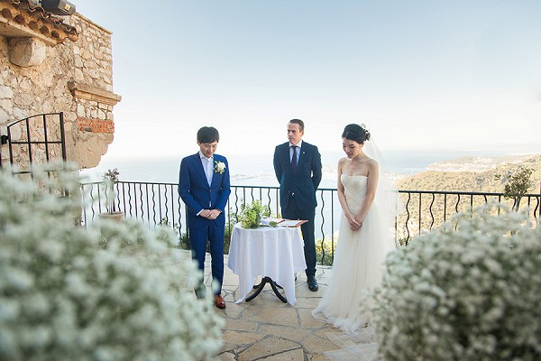 outdoor french riviera ceremony