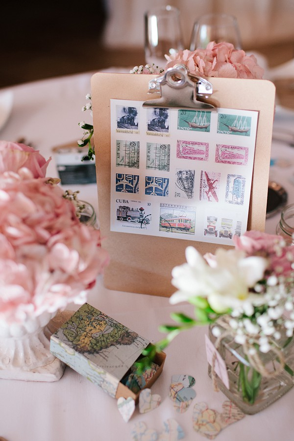 vintage stamps wedding
